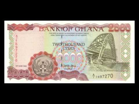 All Banknotes of Ghanaian cedi - 10 Cedi to 20.000 Cedi - 1983 to 2006 Issue in HD