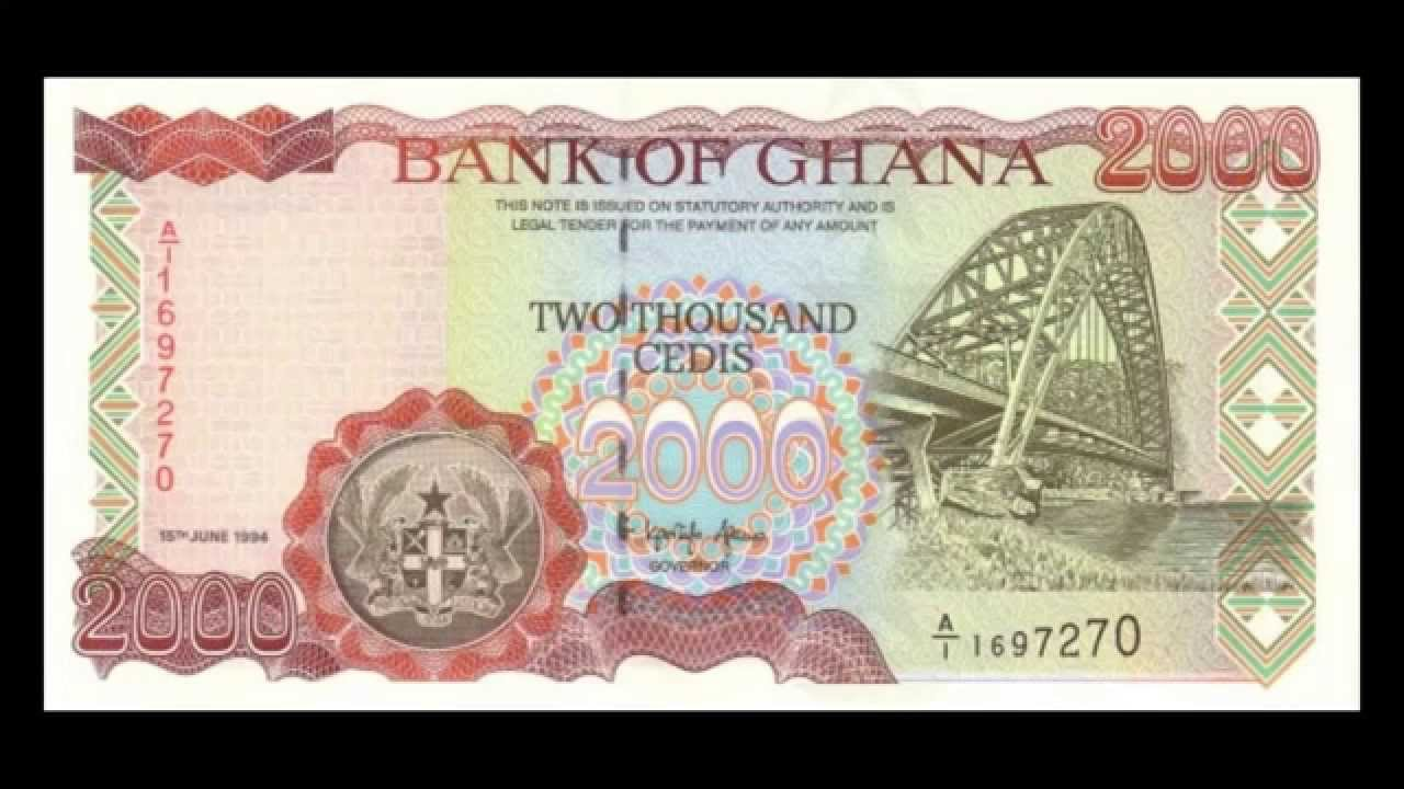 All Banknotes Of Ghanaian Cedi 10 Cedi To 20000 Cedi 1983 To
