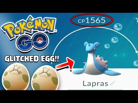 Pokemon GO! EGG GLITCHES THEN I GET A LAPRAS! 1500 CP Lapras OP!!