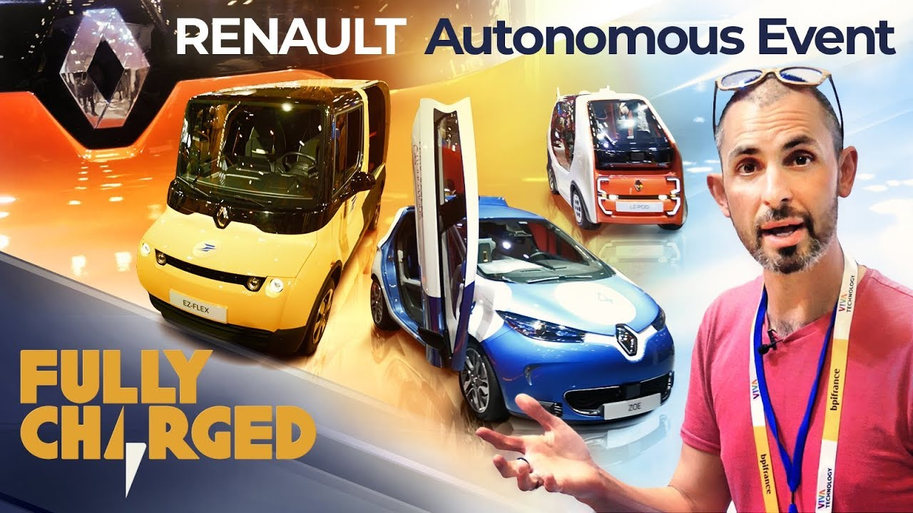 Renault ZOE fully autonomous electric vehicle & Renault EV's at Vivatech 2019 | Fully Charged