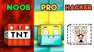 Minecraft - NOOB vs PRO VS HACKER - BLOCK HIDE AND SEEK!