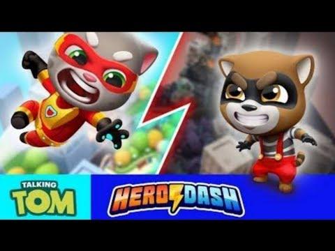 Talking tom hero dash Toys / Android gameplay/ Talking Tom friends/kids video