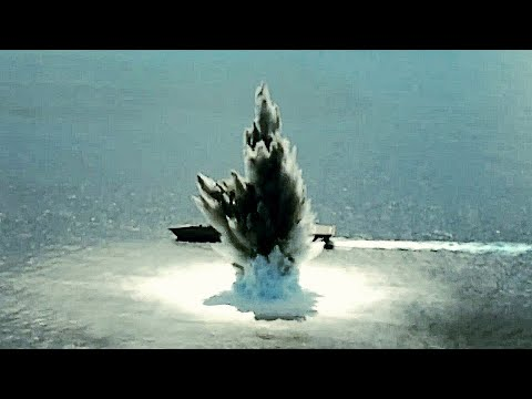 Underwater EXPLOSION! Detonating a TEN-THOUSAND-POUND EXPLOSIVE charge next to a U.S. NAVY VESSEL!