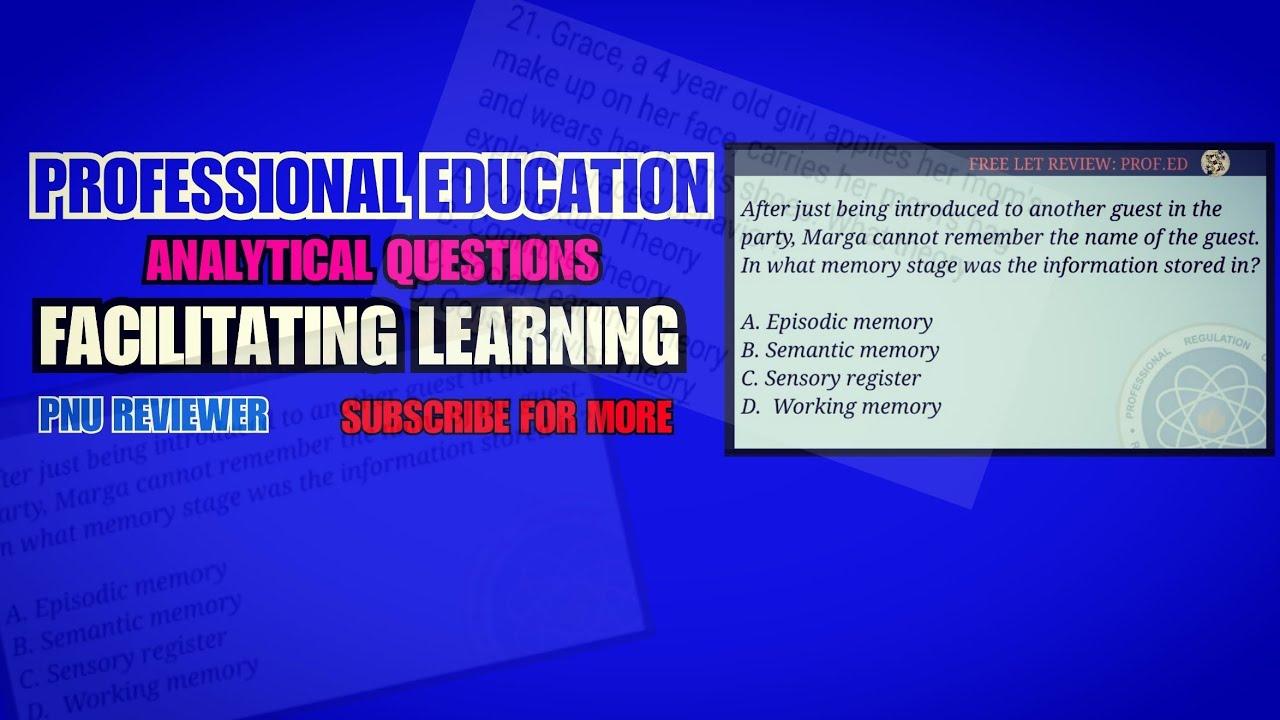 Facillitating Learning