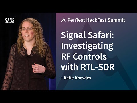 Signal Safari: Investigating RF Controls with RTL-SDR – SANS Pen Test HackFest 2017