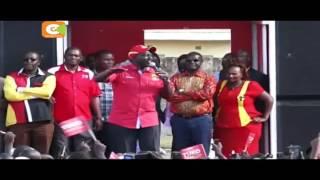 Uhuru, Ruto wapiga kampeini Meru kwa siku ya pili
