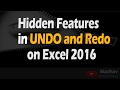 What Do You Understand by Undo and Redo Options in Excel