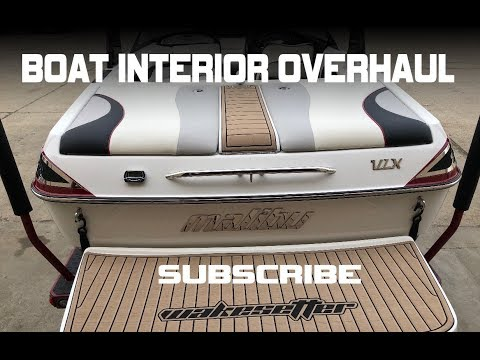 MALIBU WAKESETTER VINYL UPHOLSTERY MAKEOVER THAT LOOKS BETTER THAN NEW.