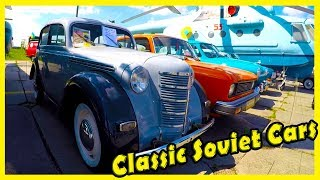 Classic Soviet and Russian Cars GAZ Volga, AZLK, Moskvich. Old Cars Show OldCarLand 2018