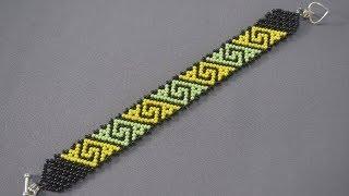 Браслет из бисера.  Техника сеточного плетения.  Бисероплетение.  Мастер Класс. Beebeecraft.com