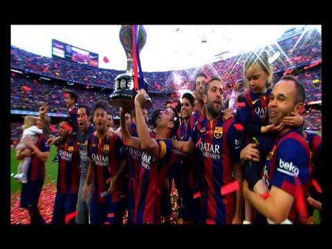 Todos los Goles del Barça Campeón de la Liga 2014/15