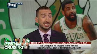 Kyrie Irving was spectacular in Celtics' Game 2 win   Nick Wright   NBA   FIRST THINGS FIRST