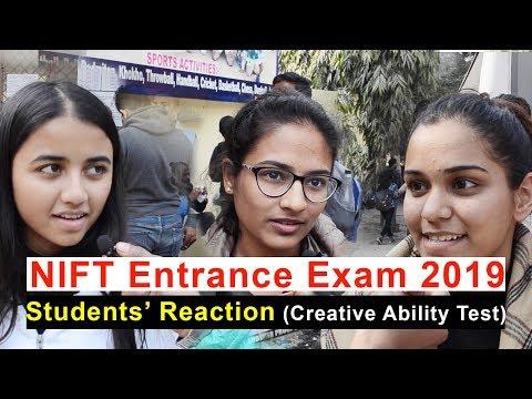 NIFT Entrance Exam 2019 Students Reaction (Creative Ability Test)