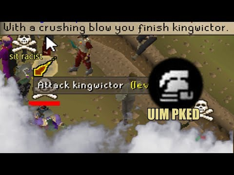 I PKED a RACIST Ultimate Ironman (SATISFACTION 100) - Osrs Hybriding/NinjaTurtle Pking