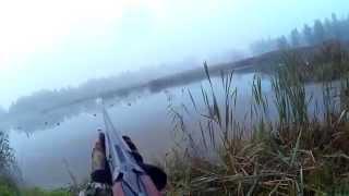 Охота на утку поздней осенью видео