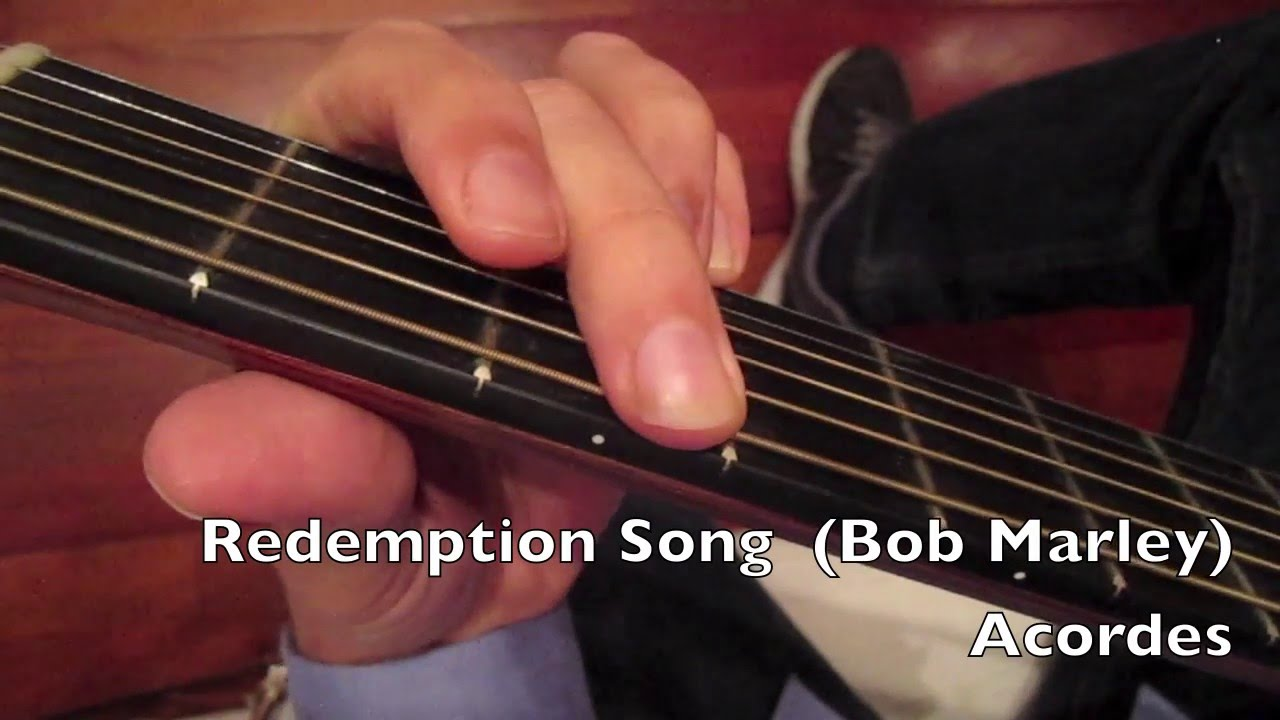 How To Play Redemption Song Guitar Chords Youtube