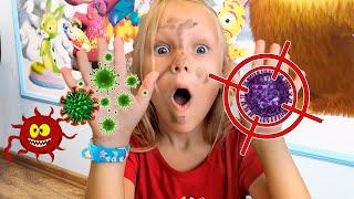 История для детей о вирусах от канала Ya-Nastya   Дети Оставайтесь Дома