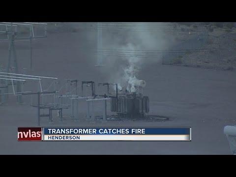 Transformer catches fire in Henderson