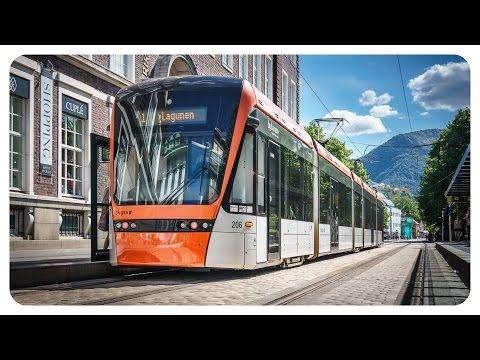 Straßenbahn & OBus Bergen Norwegen • Tram & Trolleybus • Norway • banen