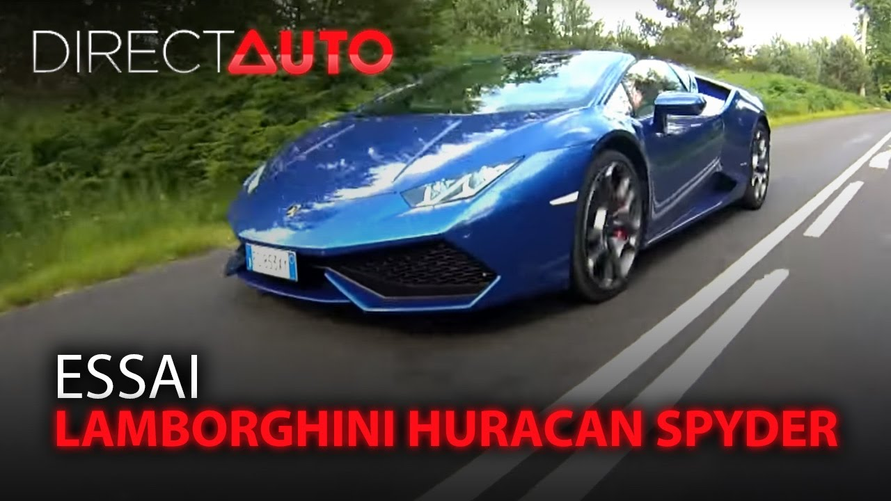 essai lamborghini huracan spyder youtube. Black Bedroom Furniture Sets. Home Design Ideas