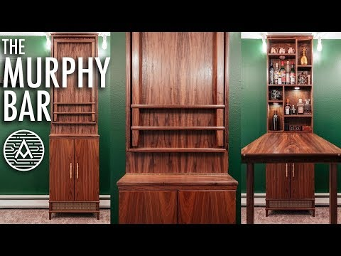 Fold-Down Murphy Bar -- Woodworking