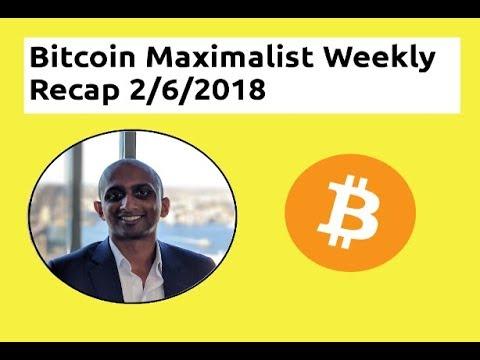 Bitcoin Maximalist Weekly Recap 2nd June 2018