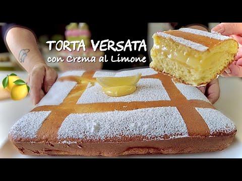 TORTA VERSATA CON CREMA AL LIMONE 🍋 ricetta facile di Tutti a tavola