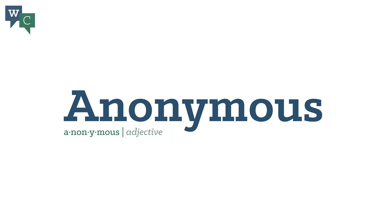 what does anonymous mean