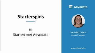 Startersgids #1 Starten met Advodata