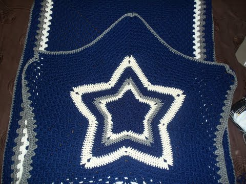 How † Bout Them Cowboys -- SHOW & TELL: Crochet Cowboys Blanket