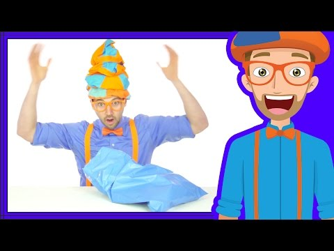 Learn Colors with Blippi | The Blue Song | Songs for Kids