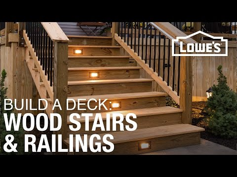 How To Build A Deck Wood Stairs Railings 4 Of 5 Youtube | Pre Made Stair Railings | Aluminum Railing | Wrought Iron Railing | Deck Railing | Cable Railing Systems | Metal