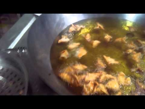 Samosa Deep Fried in Commercial Induction Kadai