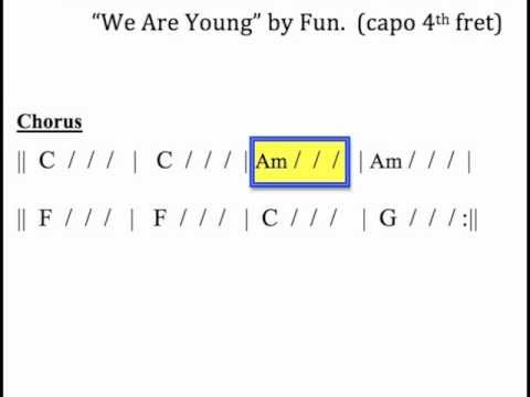 We Are Young Moving Chord Chart For Guitar Youtube