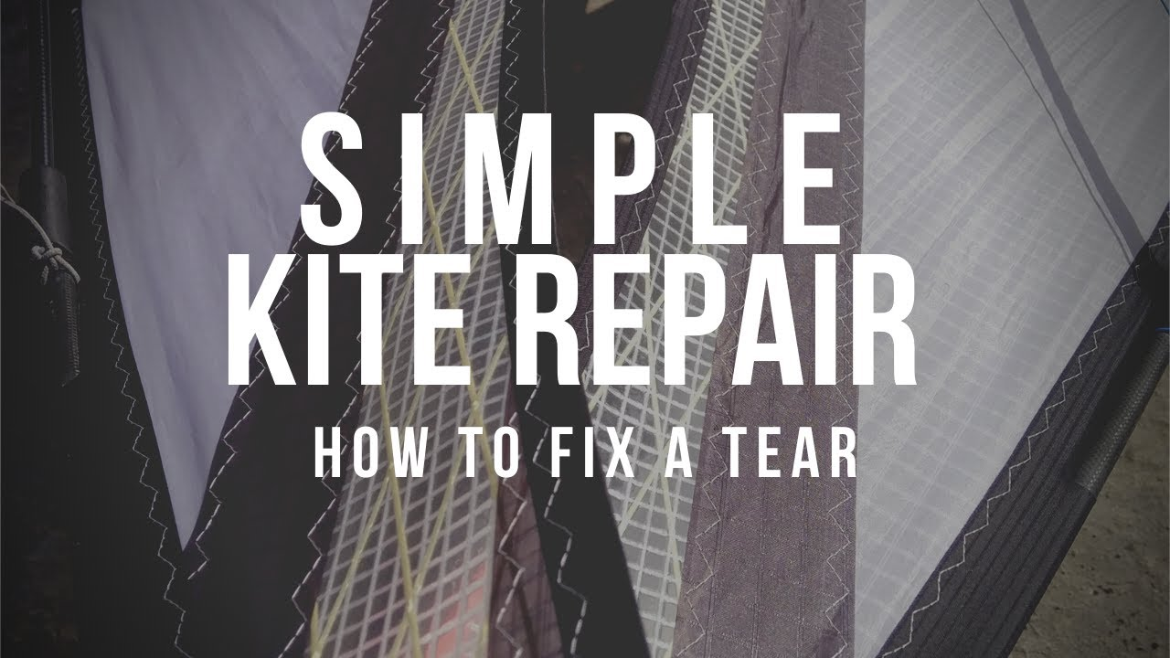 Fixing a tear in a kite sail