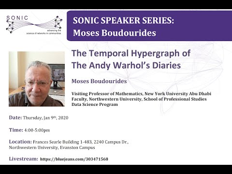Sonic Speaker Series: Dr. Moses Boudourides 01 09 2020