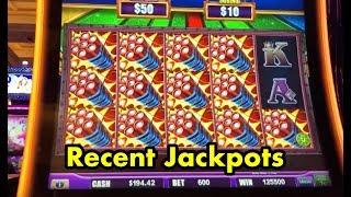 Recent Handpay Jackpots - Piggy Bankin, Superlock Lock it Link Eureka, Buffalo Gold