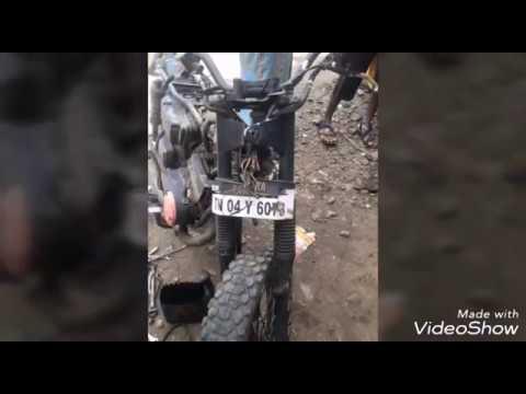 Yamaha rx 100 rx 135 new restoration painting & customized modified to CAFE RACER important bike ne