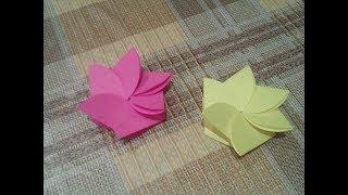 DIY : Открытка без Клея Своими Руками***Поделки из Бумаги***Оригами Цветок *** Paper Card BIRTHDAY