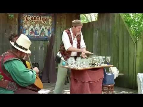 Scarborough Faire 5-3-15 playing music on glasses of water