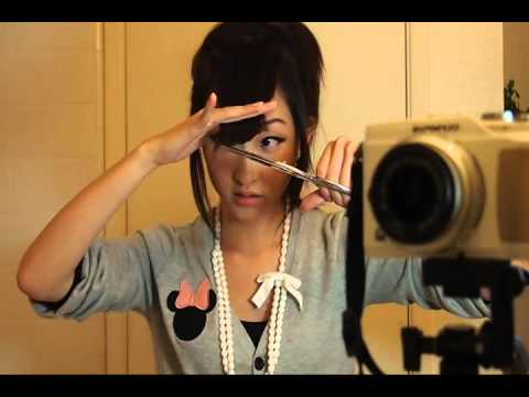 How To Cut Side Bangs Fringe Tutorial Youtube