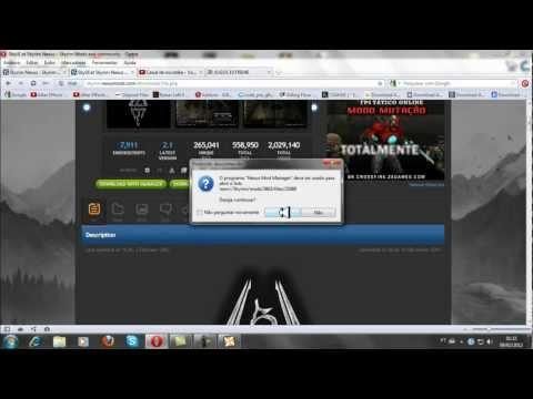 Skyrim - Como Instalar Mods Pelo NMM (Nexus Mod Manager) (HD)