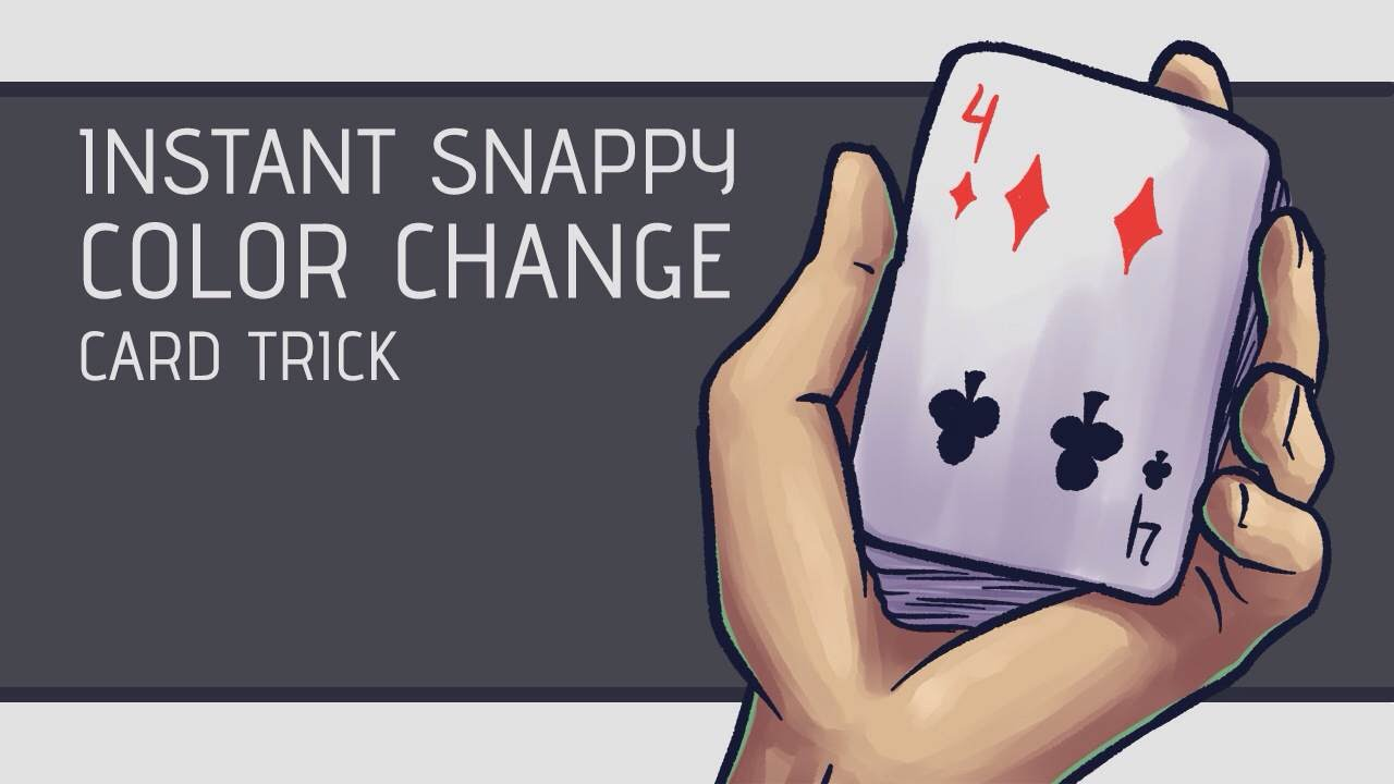 Color game trick - Instant Snappy Color Change Card Trick Performance