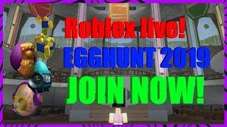 Roblox live! EGGHUNT 2019!!