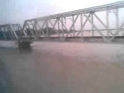 Vaishali crossing a flooded ghagra.