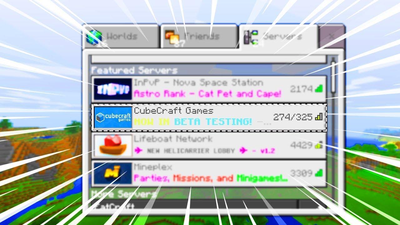 NEW CUBECRAFT MCPE SERVER!!! - Minecraft PE (Pocket Edition)