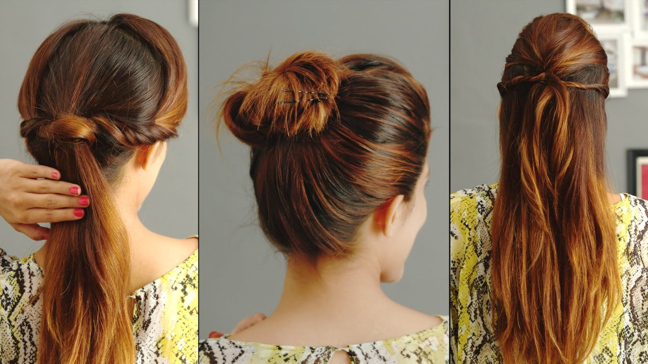 3 Quick And Easy Hairstyles For Greasy Hair  YouTube