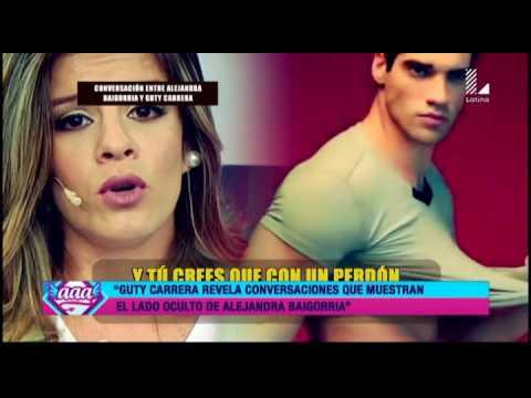 Guty Carrera revela estas conversaciones de Alejandra Baigorria