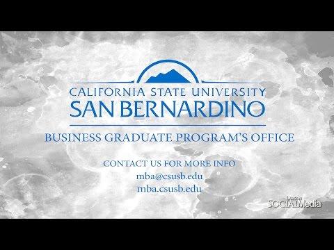 CSUSB MBA / California State University San Bernardino Masters of Business Administration / CSUSB
