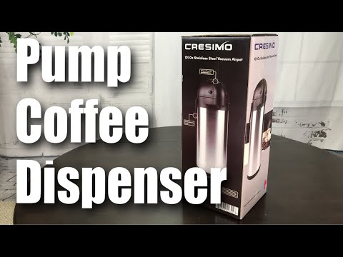 3L Stainless Steel Airpot Thermal Carafe Coffee Dispenser By Cresimo Review